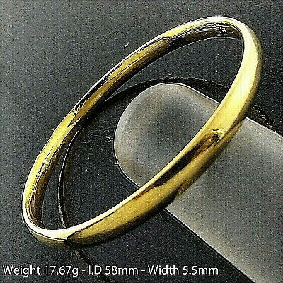 BANGLE BRACELET SOLID GENUINE 18K YELLOW G/F GOLD BABY SIZE CUFF DESIGN 40mm