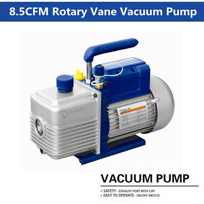 8.5CFM 4L/s Single Stage Vacuum Pump Rotary Vane 3/4HP 550W Air Conditioning
