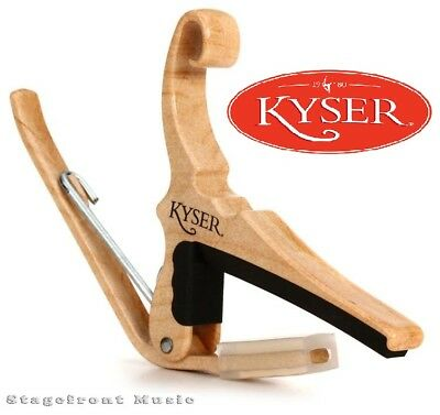 Kyser Quick Change Maple Capo For Acoustic Guitars - Made In Usa