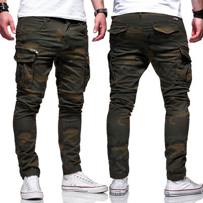 Jack   Jones Jeans Hose Paul CHOP Anti-Fit Cargohose Khaki Camouflage NEU 493dba859f