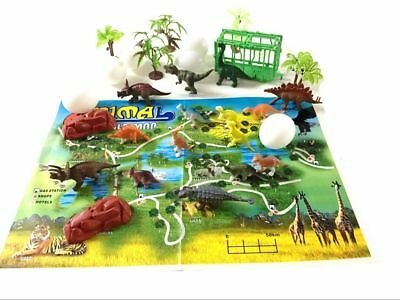 31Pc Jurassic Dinosaur park Play Set Toy Animals Action Figures Set Kids Gift