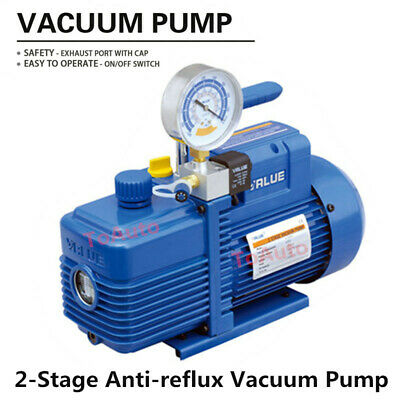 Rotary Vane 2 Stage Vacuum Pump 4.24CFM 1/2HP For Air Conditioning Refrigerator