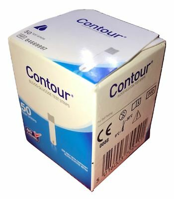 Contour Blood Glucose Test Strips For Glucose Meter (x50)