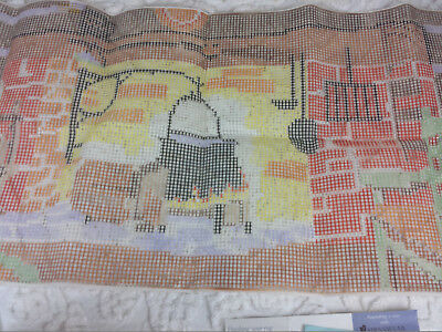 Mary Maxim Latch Hook Rug Kit 1583 Fireplace 100 Wool Complete 1974 Vintage