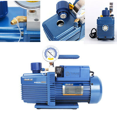 2Pa Air Vacuum Pump Rotary Vane 1L/s 2.1CFM 1 Stage 1/4HP For R410A Refrigerator