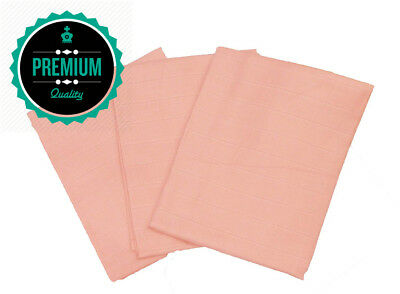 Muslinz Premium Muslin Squares 100% Cotton Supersoft High Quality x 3 in PINK