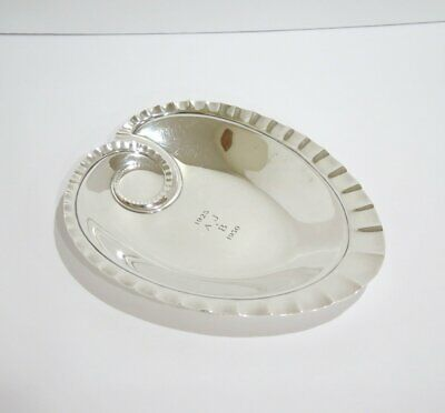 8 in - Sterling Silver Tiffany & Co. Antique Leaf-Shaped Serving Plate