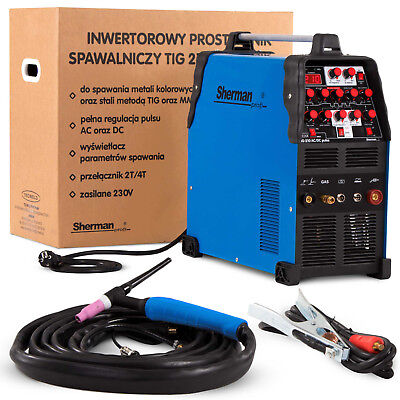 TIG Welder Professional Welding Machine Inverter Sherman TIG 210 AC/DC Puls 200A