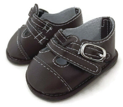 Brown Double T Strap Shoes fits 18 inch American Girl Doll Clothes