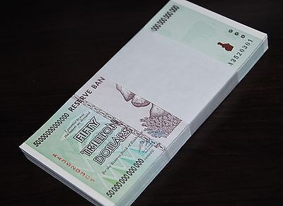 60X Zimbabwe 50 Trillion Dollars | Uncirculated | 2008 Aa | 100% Genuine