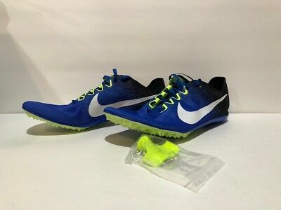 Nike Zoom Victory 3 Track Running Spikes Blue Volt White Black 835997-413 5a178ad06