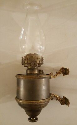 Antique 19th C. Victorian Wall Sconce Bracket with Removable Oil Lamp P&A Mfg.