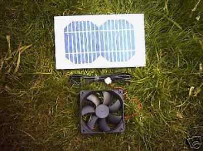 Solar Ventilation Kit,3W,92Mm Fan For Chicken House,dog Kennel,rabbit Hutch Etc