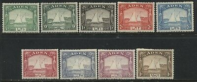 Aden 1937 definitives 1/2d Anna to 1 rupee mint o.g. hinged