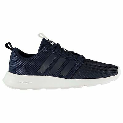 new product 1a76c 88505 adidas Cloudfoam Swift Racer Trainers Mens NavyWhite Athletic Sneakers  Shoes
