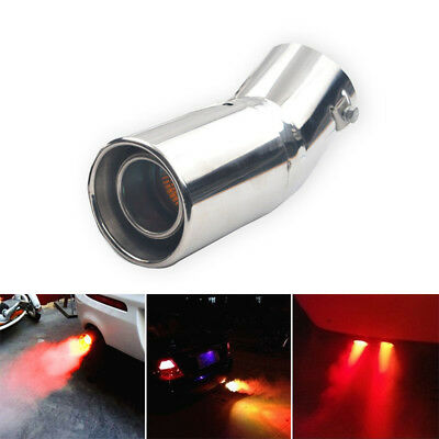 Spitfire Exhaust Pipe Tail Throat Car LED Red Light Flaming Muffler Tip 2018