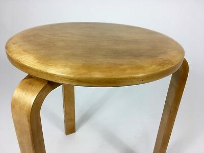 1940s ALVAR AALTO STOOL 60 / SIDE TABLE by ARTEK PASCOE. MID CENTURY FINMAR ERA