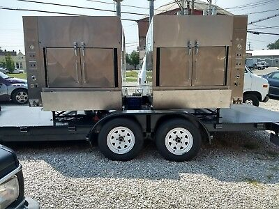 Two Ole Hickory EL Smokers on Trailer