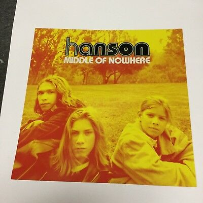 Hanson Brothers - middle of nowhere....2-sided promo poster flat