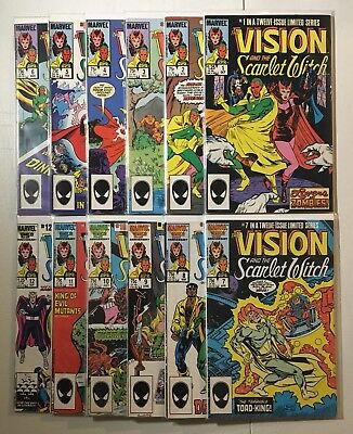 Vision And The Scarlet Witch #1-12 Limited Series Complete Set! 1985! No Reserve