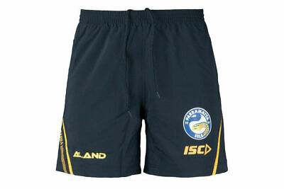 Parramatta Eels NRL 2018 ISC Players Navy Training Shorts Sizes S-3XL! CLEARANCE