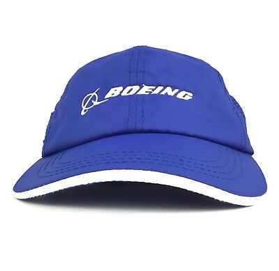 9d6e1561a40c94 BOEING Embroidered Logo Blue Baseball Cap Hat Adj Adult Size Polyester