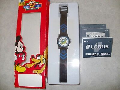 New Old Stock Lorus By Seiko Disney Mickey Mouse Pluto Football