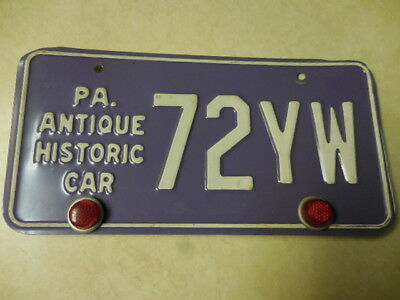 Vintage Pennsylvania PA Antique Historic Car License Plate #72YW ships FREE
