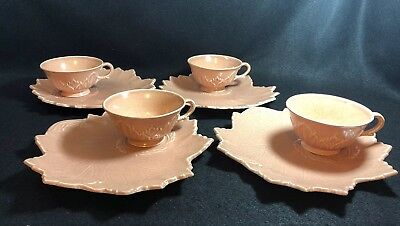 4 Sets Woodfield Steubenville Salad Luncheon Plates Leaves
