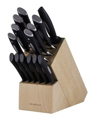 NEW Scanpan Classic Knife Block Set 15pc