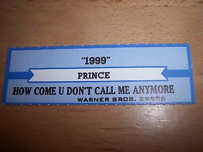 "1 Prince 1999 Jukebox Title Strips CD 7"" 45RPM Records"