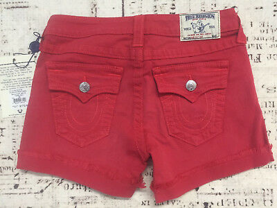 779bb9787 True Religion Brand Jeans Women s Keira Low Rise Cut Off Short  172 Size 26
