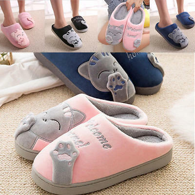 FUNNY Cute Cozy Cat Paw Slippers Women Men Warm Winter Slippers Shoes 4 Colors