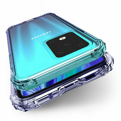 For Samsung Note 9 A8 2018 S9 Plus Shockproof Soft Clear Armor Case Phone Cover