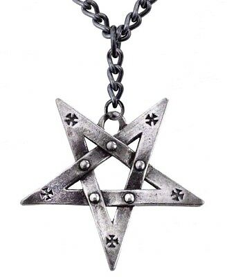 Pentagration Large Pentagram Iron Cross Talisman Pendant Alchemy Gothic P623