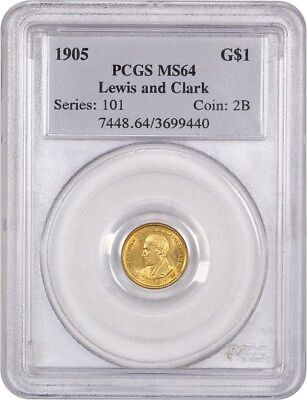 1905 Lewis & Clark G$1 PCGS MS64 - Key Gold Commem Issue - Key Gold Commem Issue