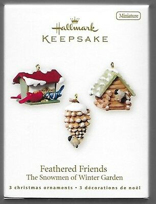 Hallmark Keepsake Ornament 2007 Snowmen of Winter Garden Feathered Friends