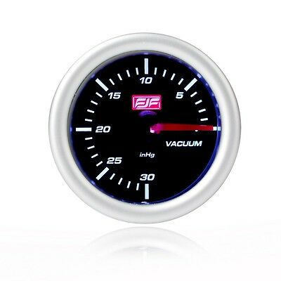 "2"" 52mm silver Car smoke boost Vacuum Gauges tinted shell 0~30psi"
