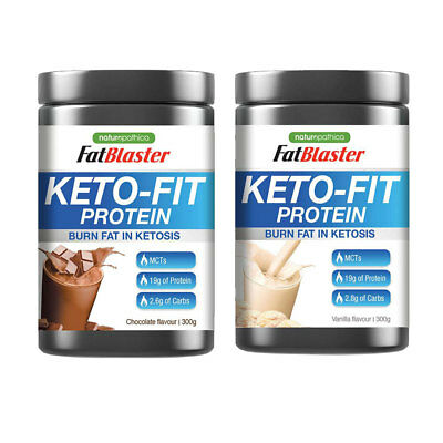 Fatblaster Keto-Fit Protein 300G Choose Flavour Burn Fat In Ketosis Keto Fit
