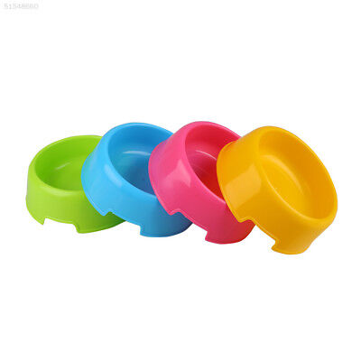 5033 Pet Cat Dog Lovely Plastic Feed Drink Water Dish Food Dishes Bowl Travel
