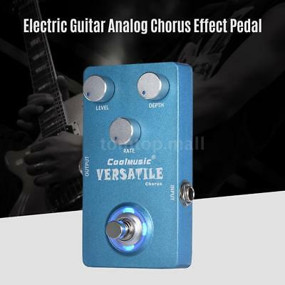 Analog Chorus Electric Guitar Effect Pedal True Bypass Blue New Free Ship Z6L6