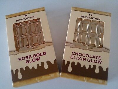 *NEW* Revolution I Heart MakeUp Glow Highlighter Palette Vegan Boxed - UK Seller