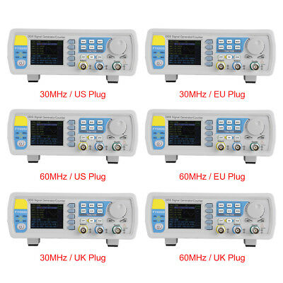FY6800 30MHz / 60MHz Function Arbitrary Waveform Pulse DDS Signal Generator 2CH