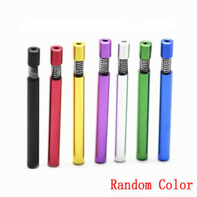 1Pcs Self Cleaning One Hitter Metal Bat Tobacco Smoking Cigarette Dugout Pipe