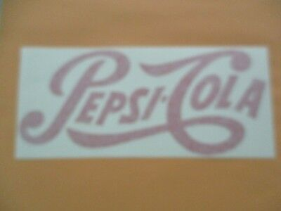 A3136 PEPSI COLA OVAL DESIGN  VINYL DECAL STICKER 4 INCH
