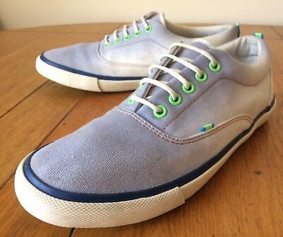 Next Blue Canvas Low-Top Trainers Summer Shoes Plimsoll Lace-Up Men's UK 7 EU 41
