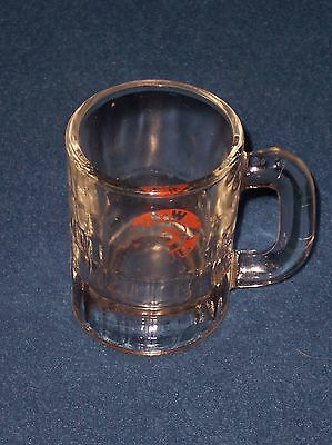 """Vintage A&W Root Beer Baby or Mini Mug, 3 1/4"""" tall. Red Bullseye Label"""
