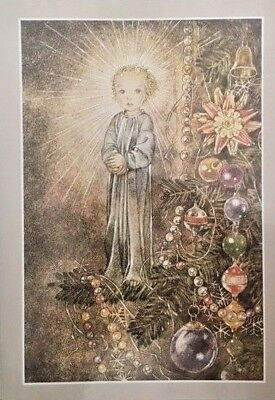 Sulamith Wulfing-Angel FREE INT.SHIPPING Wishing Card.Vintage,approx 6-8inch