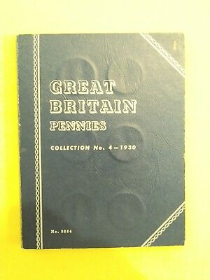COLLECTION OF 15 BRITISH LARGE PENNIES 1930-1953 in WHITMAN ALBUM