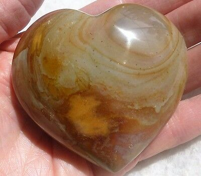 177.8 Gram  LARGE Polished Desert POLYCHROME JASPER Heart from Madagascar